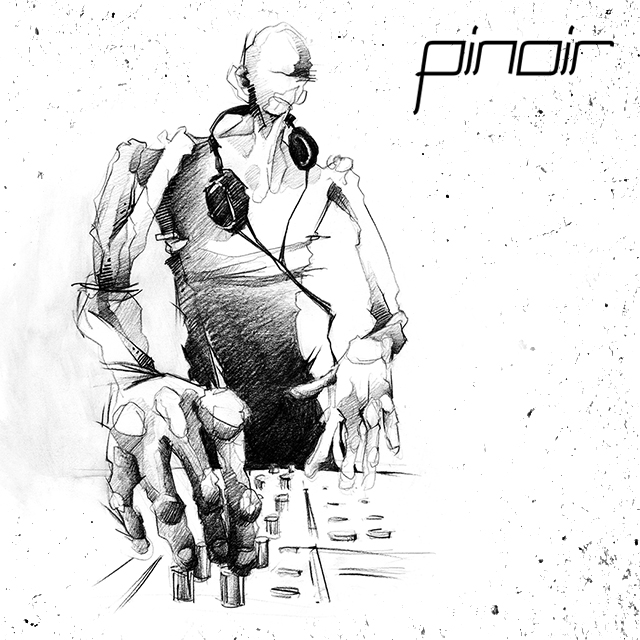 Portrait Illustration Techno-DJ Pinoir