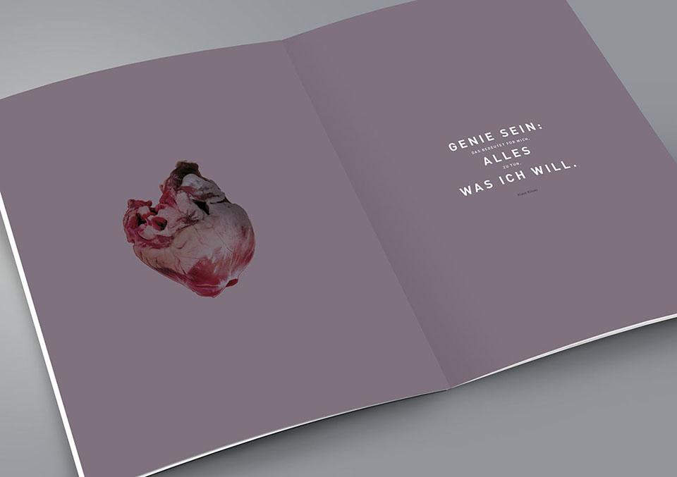 Magazin Innenseite 'Xtreme: Zwischen Genie und Wahnsinn' mit Zitat und Abbildung Herz