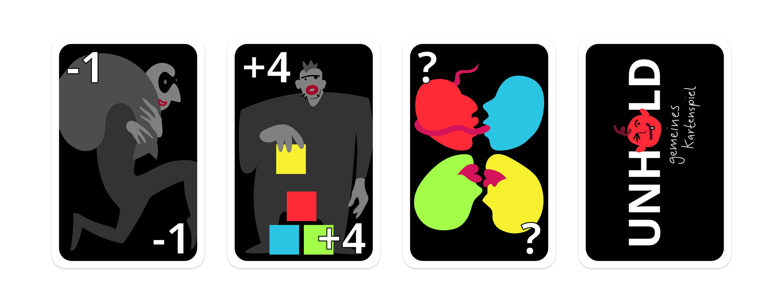 Übersicht Spielkarten Design Aktionskarten